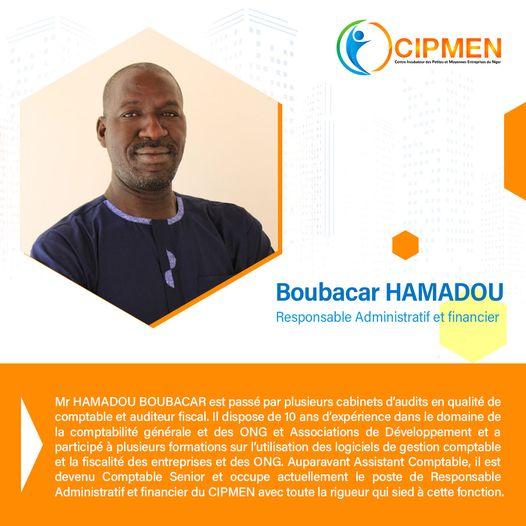Boubacar Hamadou Responsable Administratif et financier du CIPMEN