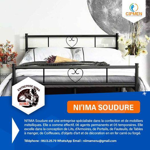 NI'IMA Soudure est une entreprise spécialisée dans la confection de mobiliers métalliques.
